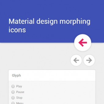 Morphing icons